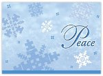 Autism Speaks Peace Snowflakes Holiday Card