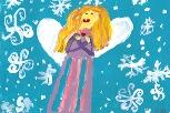 Cystic Fibrosis Foundation holiday eCard - angel
